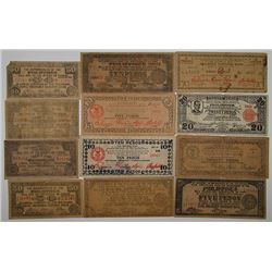 Commonwealth of the Philippines & Other Issuers. 1940s. Lot of 19 Issued Notes.