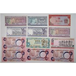 Banque Nationale du Rwanda, Reserve Bank of Rhodesia & Central Bank of Nigeria. 1960s-1990s. Lot of