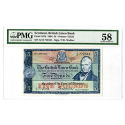 British Linen Bank. 1964. Issued Note.