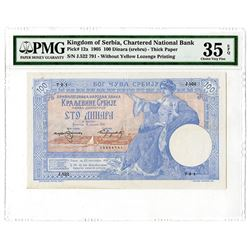Chartered National Bank. 1905. Issued Note.