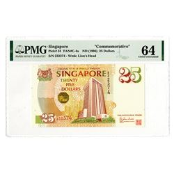 "Singapore ""Commemorative"", ND (1966) Issued Banknote."