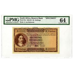 South African Reserve Bank. 1956. Specimen Note.
