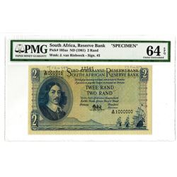 South African Reserve Bank. ND (1959). Specimen Note.
