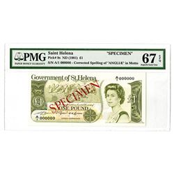 Government of St. Helena. ND (1981). Specimen Note.