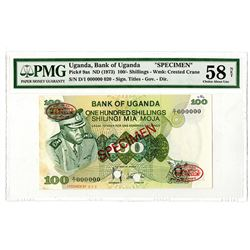 Bank of Uganda. ND (1973). Specimen Note.