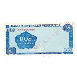 "Banco Central De Venezuela, 1989 Essay Specimen ""Dotmar"" Paper Trial Banknote"