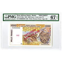 Banque Centrale des Etats de 'Afrique de l'Ouest. 1994. Specimen Note.