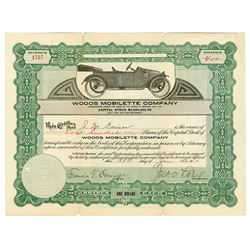 Woods Mobilette Co., 1914 I/U Stock Certificate