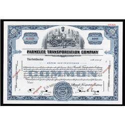 Parmelee Transportation Company, 1929 Specimen Stock Certificate.