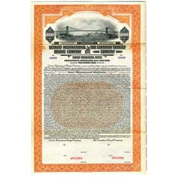 Detroit International Bridge Co. and Canadian Transit Co. 1927 Specimen Bond