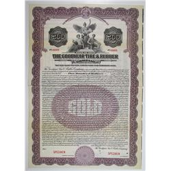 Goodyear Tire & Rubber Co. 1921 Specimen Bond