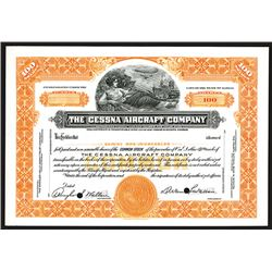 Cessna Aircraft Co., ca.1930-40's Specimen Stock Certificate.