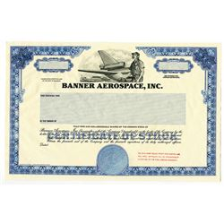 Banner Aerospace, Inc., 1990 Proof Stock Certificate.