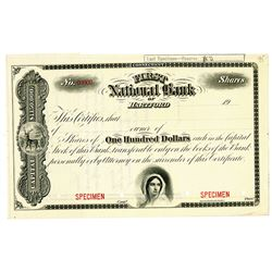 First National Bank of Hartford, 1900-1920 Specimen Stock Certificate