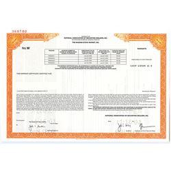 Nasdaq Stock Market, Inc., 2001 Specimen Stock Warrant Certificate