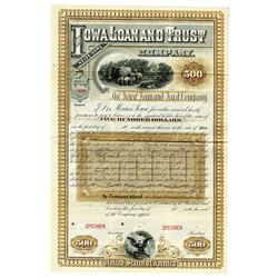 Iowa Loan and Trust Co., ca.1880-1900 Specimen Bond