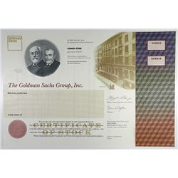 "Goldman Sachs Group, Inc. 1898 Specimen ""IPO"" Stock Certificate."