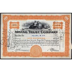 Irving Trust Company 1929-31 I/C Stock Certificate Group of 93.