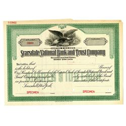 Scarsdale National Bank and Trust Co. Specimen Stock Certificate