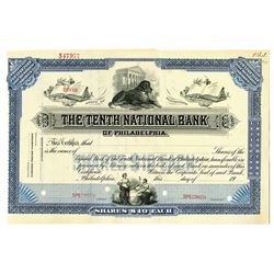 Tenth National Bank of Philadelphia 1900-20 Specimen Stock Certificate