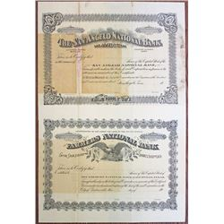 Texas National Bank, ca.1900-1909 Specimen Stock Certificate Pair