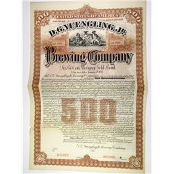 D.G. Yuengling, Jr. Brewing Co. 1887 Specimen Bond