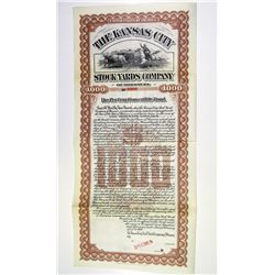 Kansas City Stock Yards Co. of Missouri 1900 Specimen Bond.