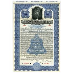 American Telephone and Telegraph Co., 1916 Specimen Bond