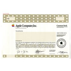 Apple Computer, Inc. 1997 Specimen Stock Certificate