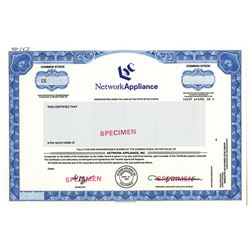 "Network Appliance, Inc., 1992 ""IPO"" Specimen Stock Certificate"