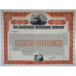 Associated Merchants Co. Specimen Stock Certificate