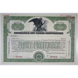 Associated Dry Goods Corp. Specimen Stock Certificate