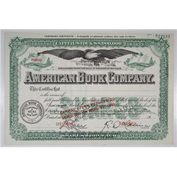 American Book Co. 1946 Specimen Stock Certificate