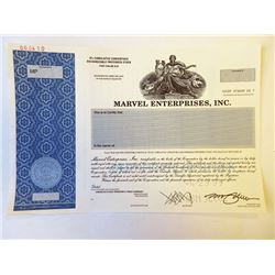 Marvel Enterprises, Inc. 1999 Specimen Stock Certificate