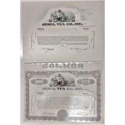 Jewel Tea Co., Inc., ca.1930s-1940s Production Proof Stock Certificate