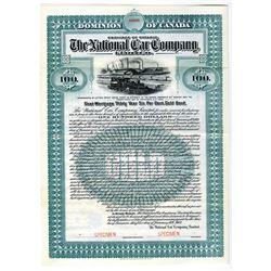 National Car Co., Ltd. 1907 Specimen Bond