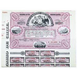 Banco Hipotecario de Chile Specimen Bond