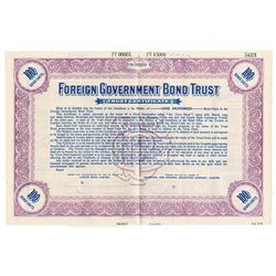 Foreign Government Bond Trust, ca.1890-1900 Specimen Bond