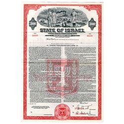 "State of Israel, 1954, ""15 Year 4% Dollar Coupon Bond - Development Issue Specimen Bond"