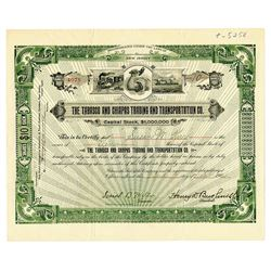 Tabasco and Chiapas Trading and Transportation CO. 1904 Stock Certificate
