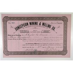 Concepcion Mining & Milling Co. 1888 Stock Certificate