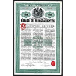 Estado De Aguascalientes, 1910 I/U Bond.