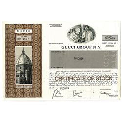 Gucci Group N. V., 1999 Specimen Stock Certificate