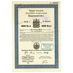 Royal Prussian Government 1883 Coupon Bond