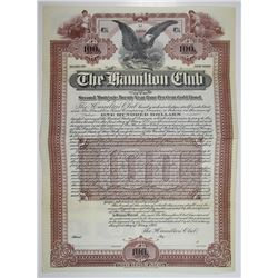 Hamilton Club 1901 Specimen Bond