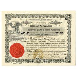 Imperial Cudia Firearm Co. 1912 Specimen Stock Certificate