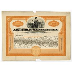 J. W. Murray Manufacturing Co., 1920-30's proof Stock Certificate.