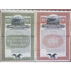 United States Steel Corp. 1903 Specimen Bond Pair