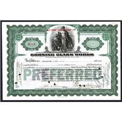 Corning Glass Works. 1922. I/C Stock.