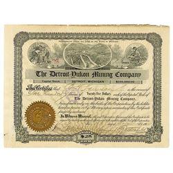 Detroit=Yukon Mining Co., 1902 I/U Stock Certificate.